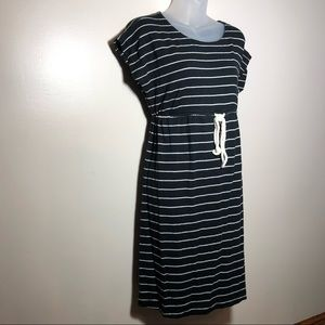 Medium Motherhood Maternity Striped Casual Dress